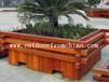 供应湖北武汉休闲广场木质景观花箱组合花架咖啡亭景观吊篮花盆