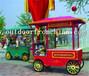 厂家定制直销河北秦皇岛移动外卖车小吃手推车木质摆卖亭