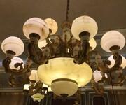 全铜玉石灯饰天然玉石吊灯玉石灯具玉石铜灯图片