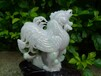 缅甸天然翡翠精品摆件玉质细腻淡紫飘绿生肖鸡年发财书房办公台摆件