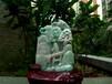 缅甸翡翠满色飘绿水润玉质细腻精雕山水摆件山水艺术收藏品摆件