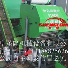 新型畜牧养殖设备苞米秸秆青储打捆机全自动青贮打包机图片