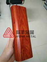 厂家定制转印不锈钢木纹6060管仿印木纹不锈钢室内装饰