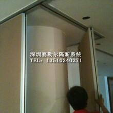 深圳酒店屏風活動隔斷可開門式隔斷圖片