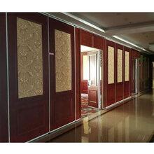 厂家全包惠州酒店移动隔断墙厂家赛勒尔悬吊式屏风折叠门图片