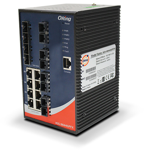 ORing威力工业以太网交换机GLGS-5084GP-LA工业级12口全千兆管理型西北区一级总代理
