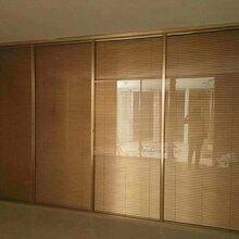 延安办公隔断双玻百叶隔断玻璃隔断墙办公高隔间定制图片