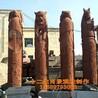 十二生肖浮雕寺庙石雕龙柱广场石柱雕塑