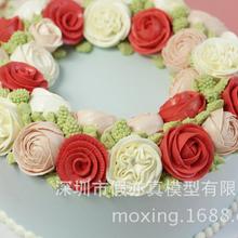 假亦真仿真蛋糕模型韩式裱花玫瑰人生定制造型生日创意礼品