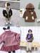 台湾儿童服装市场中小童黑蓝加绒加厚外套批发货到付款秋冬加绒加厚牛仔棉衣批发网站