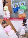 四川德阳夏季厂家清仓精品质量好又韩版的童套装连衣裙批发货到付款便宜潮款童装套装