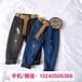 上海韓國童裝批發市場性價比高利潤大的洋氣時髦冬季童裝加絨牛仔褲批發貨源