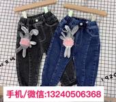 阿里巴巴童裝牛仔褲圖片價格4-8歲中童男女寶加真超柔絨簡約百搭牛仔長褲批發廠家熱賣