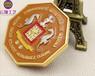 广州贴纸贴滴胶个性奖牌烤漆吊牌创意多边形奖牌