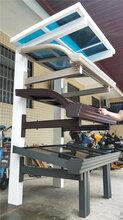 遮阳挡雨铝合金窗台雨棚制作,门口铝合金雨棚厂家定做图片