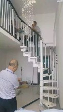 钢木楼梯实木楼梯护栏洞口怎么预留图片