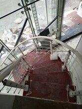 钢木楼梯实木楼梯护栏现代装修中柱旋转图片
