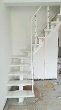 钢木楼梯实木楼梯护栏定制生产图片