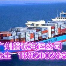 广州港到上海港走海运集装箱运输