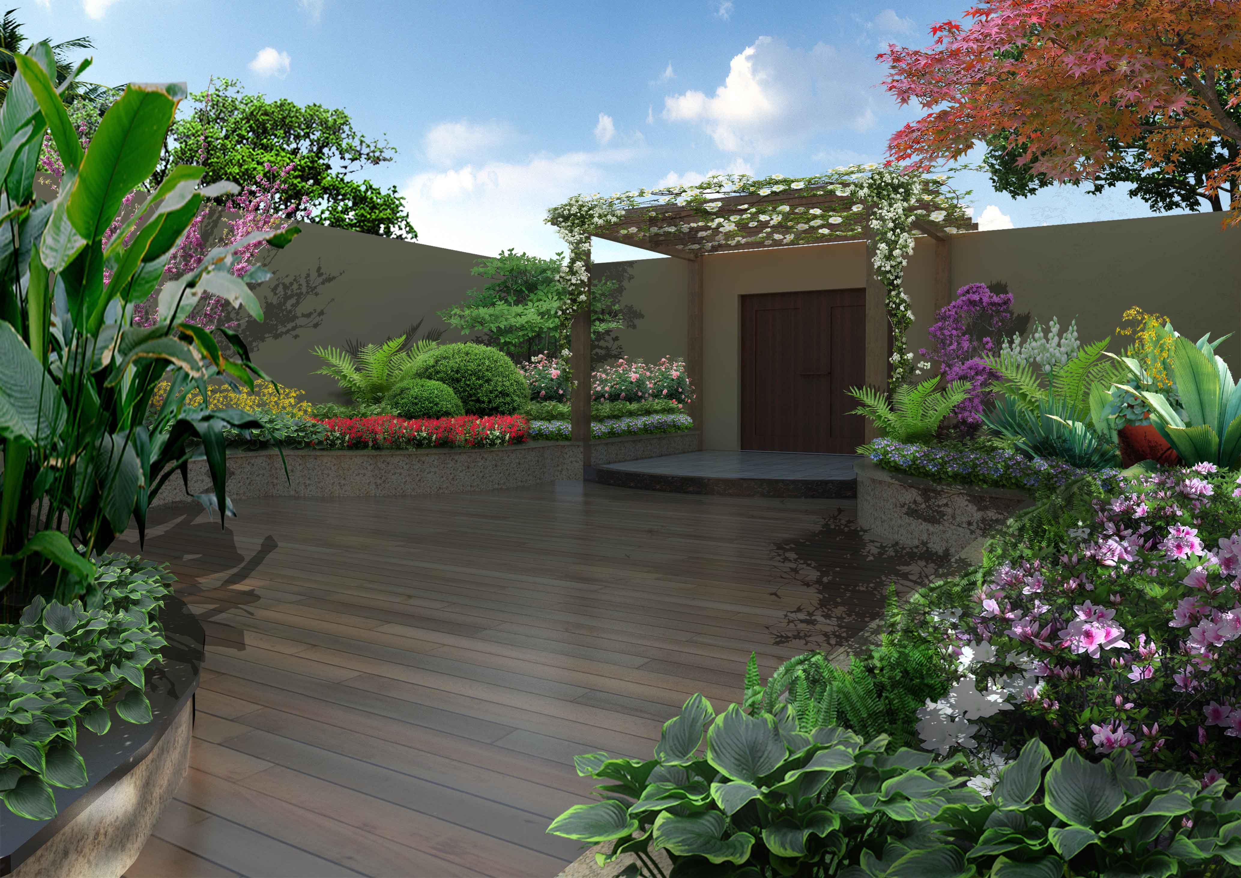 私家花园别墅花园屋顶花园设计施工