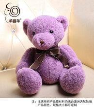 羊皮毛一体泰迪熊毛绒玩偶抱抱熊毛毛小熊玩具真毛娃娃公仔定制图片