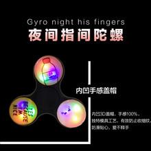 新款指尖陀螺益智减压玩具edc三角手指陀螺夜光版厂家直销图片