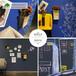廣州磁善家工廠批發無塵書寫板大尺寸黛藍色磁性彩色書寫板
