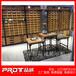 复古木纹眼镜展示柜精品展柜设计定制深圳品诚展柜制作