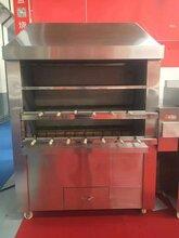 果木燃气牛排、披萨和烤鸭炉链炉巴西烧烤架图片