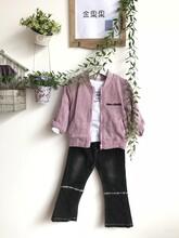 金果果童装品牌儿童保暖套装折扣批发图片