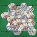 厂家直销佛山陶瓷六角瓷砖258x298mm艺术六角砖餐厅吧台地砖墙砖