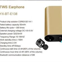 工厂新款私模E8迷你真无线双耳立体声超小蓝牙耳机4.1TWS运动对耳图片
