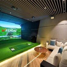 2020高速摄像高尔夫模拟器室内韩国正版系统高清球场免费升级方案图片