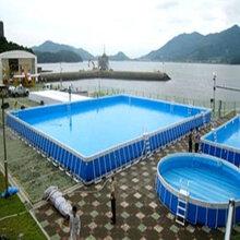 深圳支架游泳池户外游泳池厂家生产图片