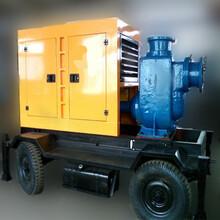 供应潍坊90马力R4105ZP柴油机发动机配套水泵机组移动拖车防雨棚移动泵站图片