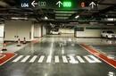 南京道路劃線-南京停車場設施收到-限高標桿圖片