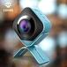 艾卓悦监控摄像360度全景数码双摄像机鱼眼高清迷你手持运动相机运动DV