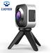艾卓悦双眼全景运动相机720度高清360度全景行车记录仪VR航拍骑行家用