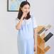 新款无荧光有机棉短袖孕妇裙