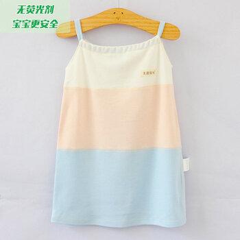济南尤淇制衣新款孕妇竹纤维拼色吊带裙