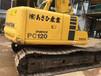 上海金城二手挖掘机市场转让二手小松120挖掘机