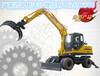 链条式挖掘机抓木机价格