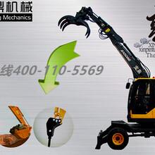 山东宝鼎抓木机厂家-新款多功能轮式抓木机介绍图片