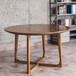 深圳厂家专业生产水曲柳实木圆桌,西餐厅餐桌,实木桌椅组合,咖啡厅餐桌