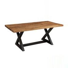 全实木长方桌,实木恰谈桌,餐厅实木桌椅成套家具定做厂家众美德