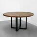 铁艺实木大圆桌,饭店包房圆桌,实木圆桌厂家,实木桌图,定制实木桌首选众美德