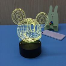 工厂直销七彩礼品灯USB5V触摸开关3D小台灯立体视觉小夜灯图片