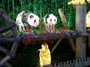 供应街道装饰灯-路灯杆造型灯、过街灯-熊猫立体滴胶造型灯