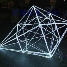 灯光节-节日装饰灯-钻石雪人造型灯