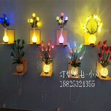 咖啡厅玫瑰花盆景灯-大型晚会玫瑰花盆景灯
